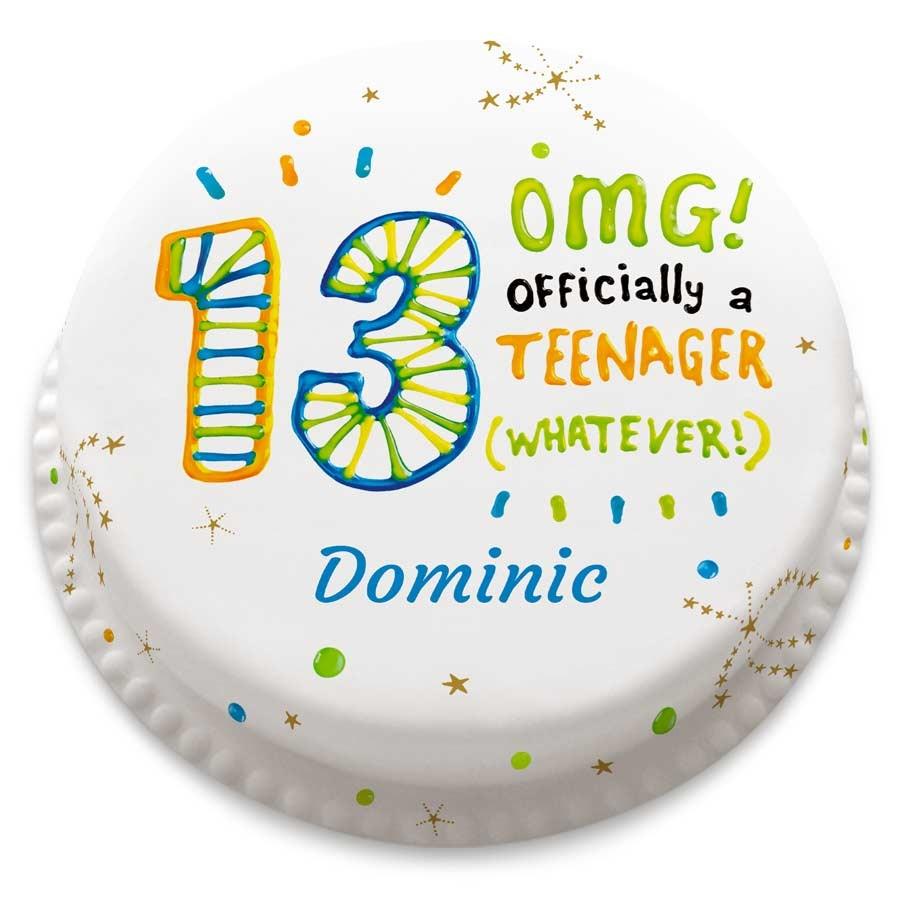 Bakerdays Personalised Omg Thirteenth Birthday Cake
