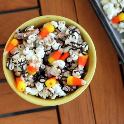 White Chocolate Candy Corn Popcorn