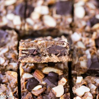 Paleo Magic Cookie Bars (Gluten Free + Vegan)