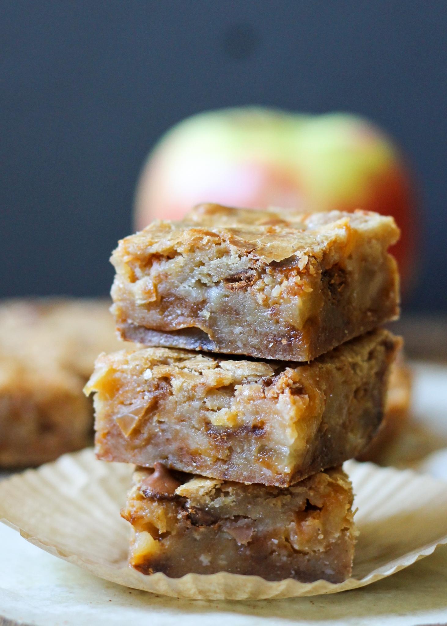 Apple Cinnamon Blondies | Sauteed apples and cinnamon chips star in ...