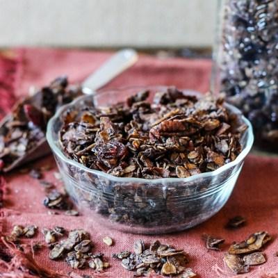 Chunky Chocolate Cranberry Pecan Granola (GF)