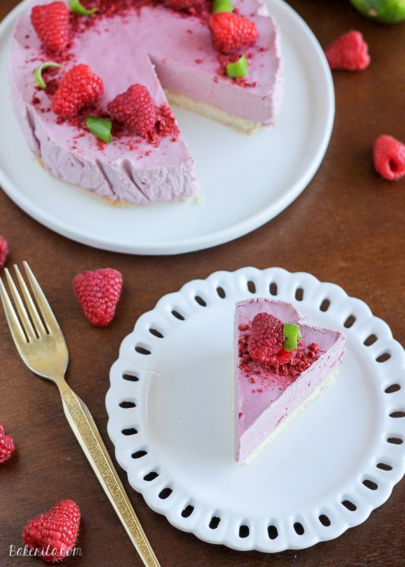 Vegan Raspberry Lime Cheesecake With Coconut Crust Bakerita