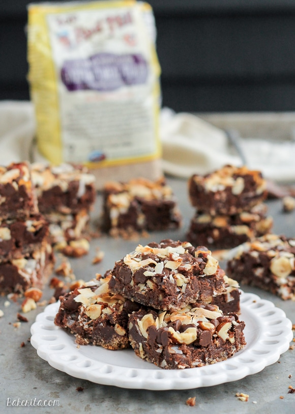 Chocolate Hazelnut Magic Bars Gf Bakerita
