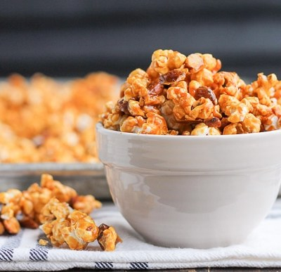 Salted Honey Almond Caramel Corn