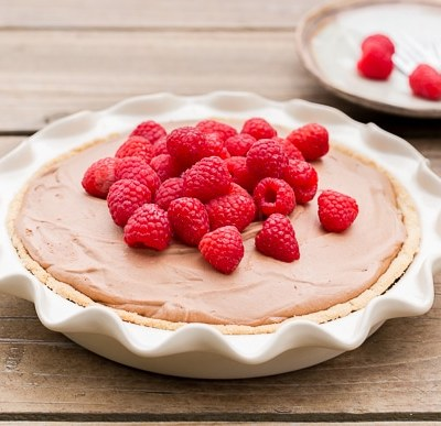 Paleo Raspberry French Silk Pie
