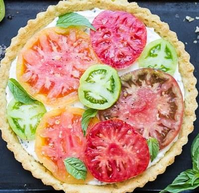 Ricotta Heirloom Tomato Tart (Gluten Free)