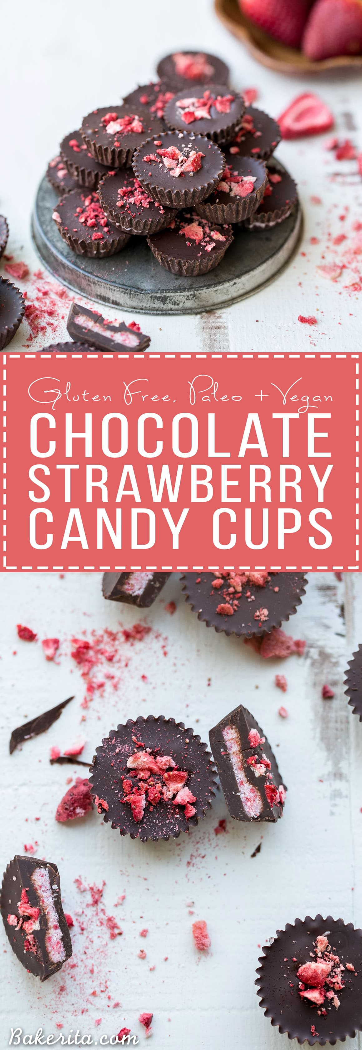 Chocolate Strawberry Cups Gluten Free Paleo Vegan