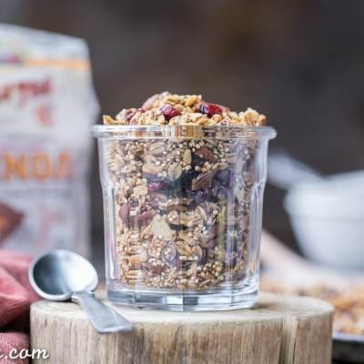 Quinoa Granola (Gluten Free + Vegan)
