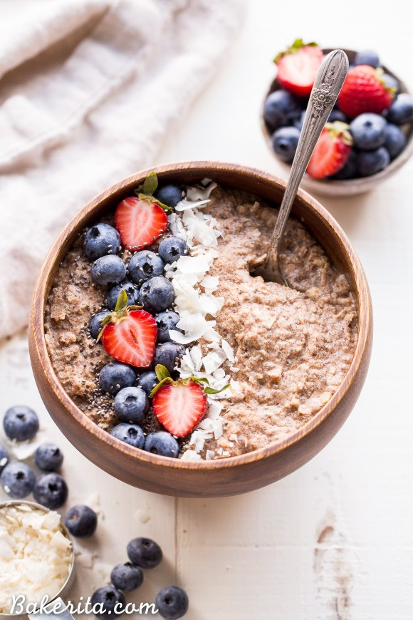 Quick grain free hot cereal gluten free paleo whole30 vegan its about as easy as cereal not eating grains but missing your morning oatmeal look no further than this quick grain ccuart Images