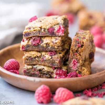 Raspberry Blondies (Gluten Free, Paleo + Vegan)