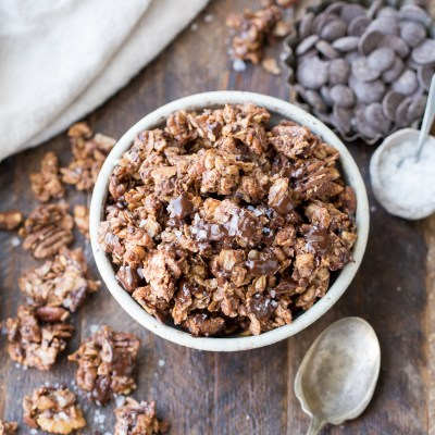 Chunky Chocolate Grain-Free Granola (Gluten Free, Refined Sugar Free + Paleo)