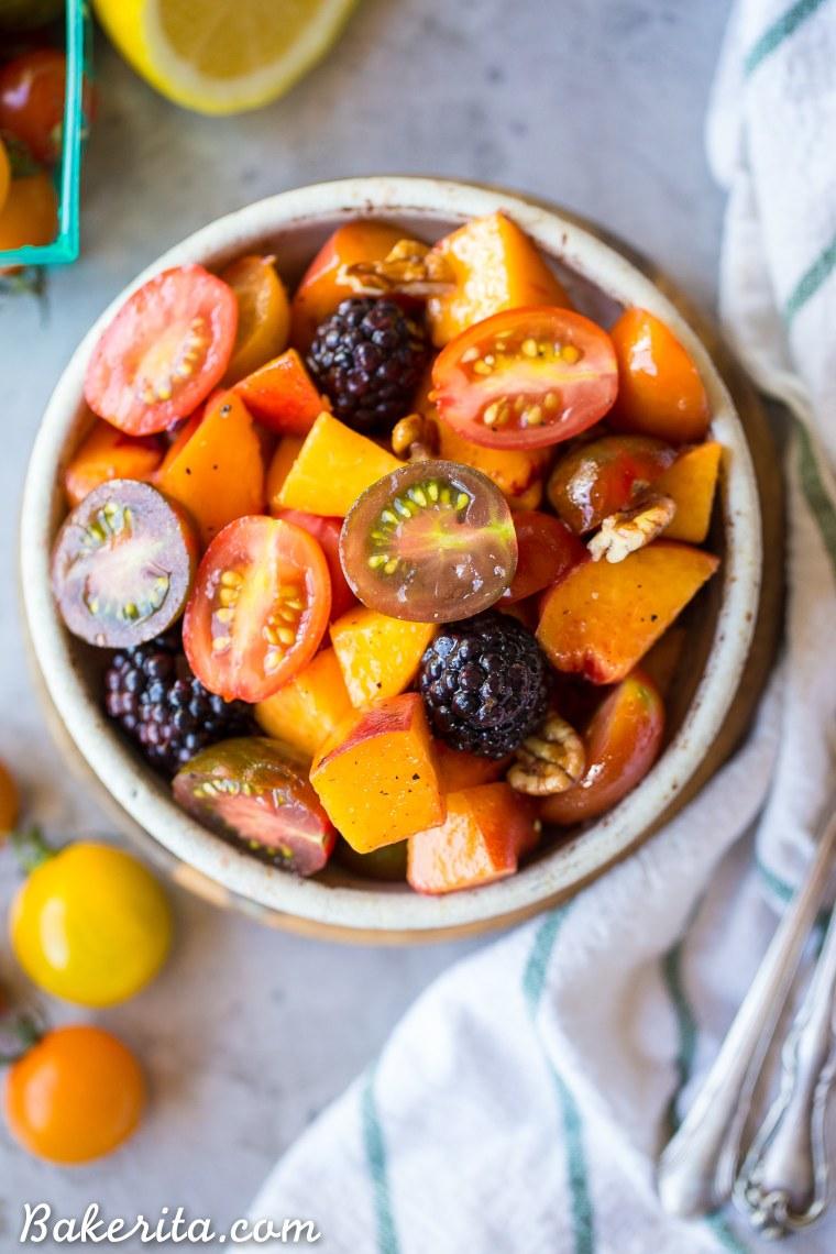 Simple Peach Tomato Salad