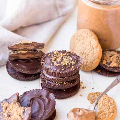 Chocolate Cookie Butter Cups (Gluten Free, Paleo + Vegan)