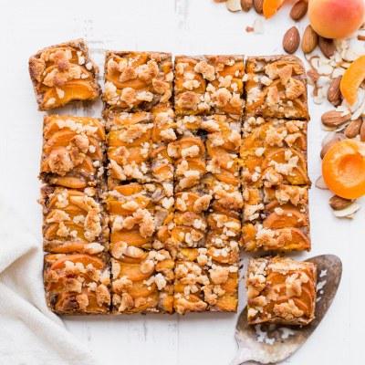Apricot Frangipane Bars (Gluten Free, Paleo + Vegan)