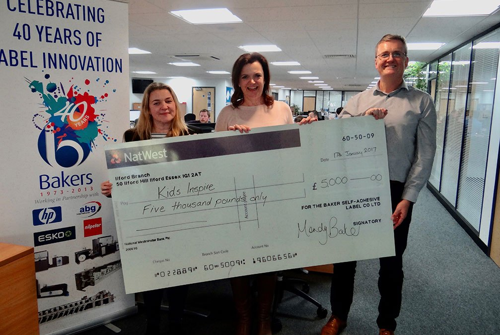 Bakers makes £5,000 donation to Kids Inspire