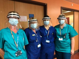 Nurses at Brentwood Community Hospitals with clear PPE