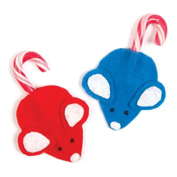 Candy Cane Mice Template