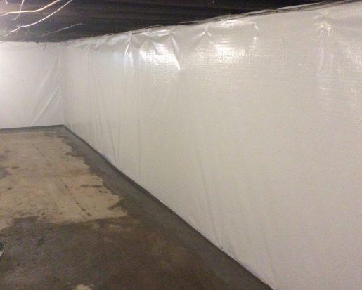 waterproofed stone basement walls