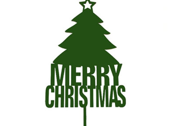 Shop Christmas Tree Text Cake Topper Online In India