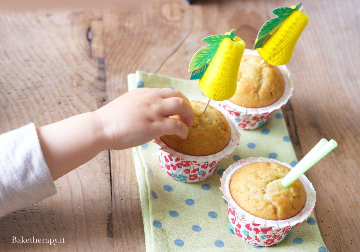 Muffin al succo di pera
