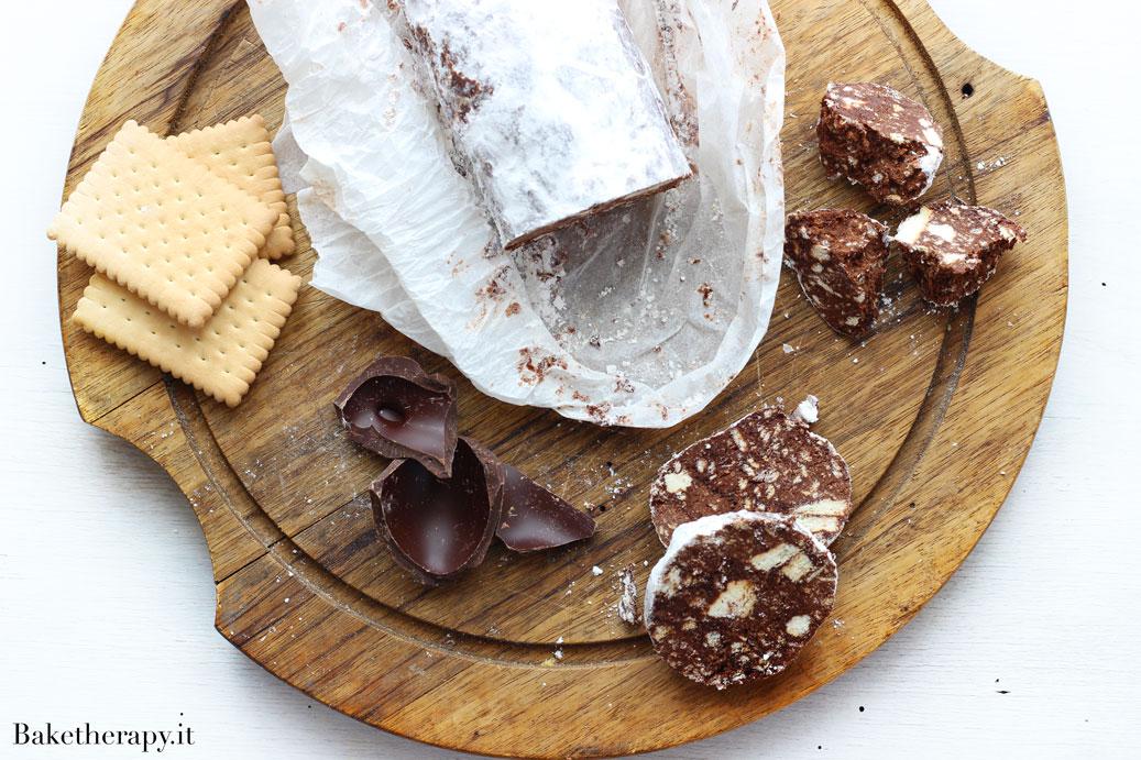 Salame di cioccolato senza burro