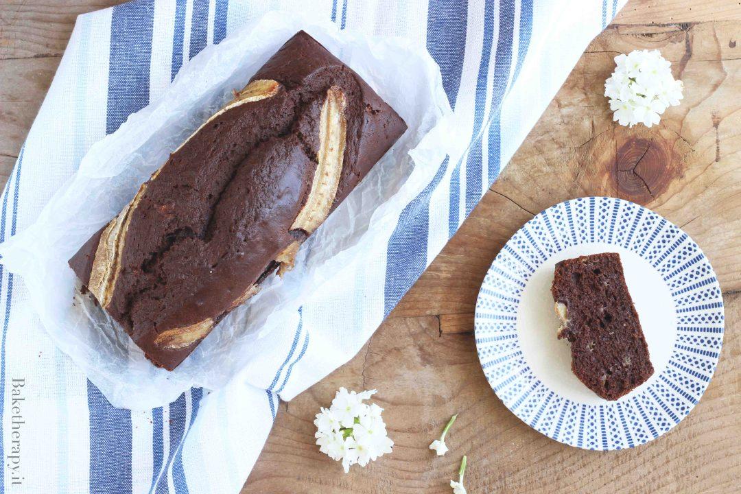 Banana bread al cacao