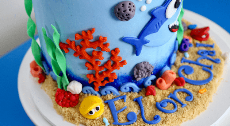 Awe Inspiring How To Make A Baby Shark Cake Bake With Mel Funny Birthday Cards Online Fluifree Goldxyz