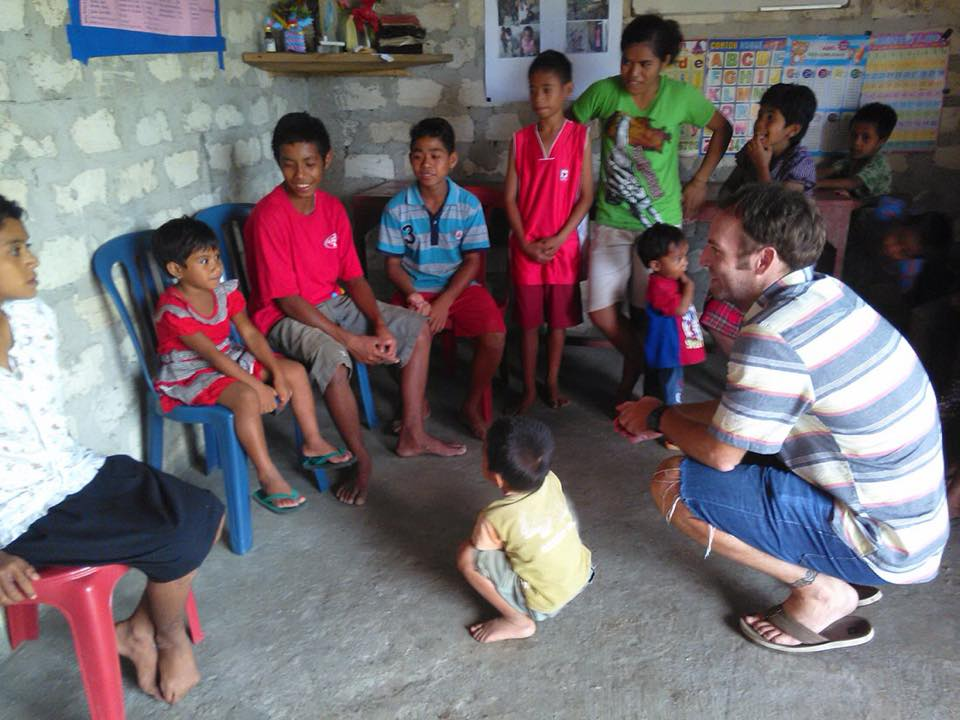 Speaking with Orphans in Sumba by Baki Clothing Company