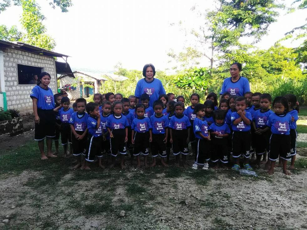 Bamboo School Uniforms at the Hati Nurani Orphanage. Made by Baki Clothing Company