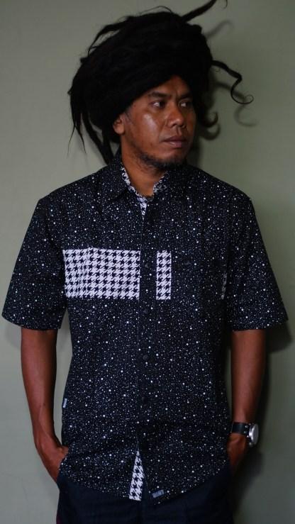 Yanto of Marapu band is wearing Baki Clothing Company