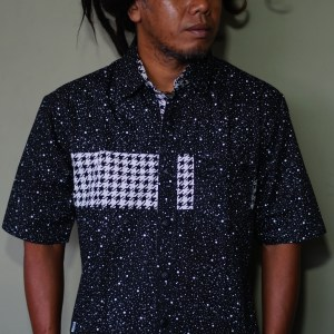 Yanto of Marapu band is wearing Baki Clothing Company