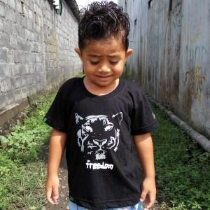 Freedom Tiger Kids Bamboo T-shirt