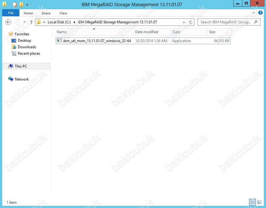 IBM MegaRAID Storage Manager Kurulumu – Baki CUBUK