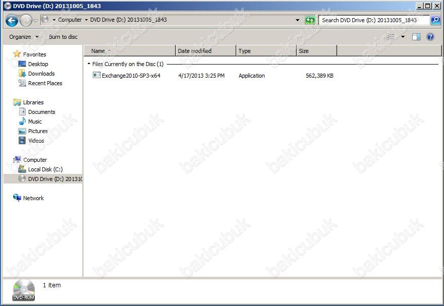 Exchange Server 2010 Service Pack 3 Kurulumu – Baki CUBUK