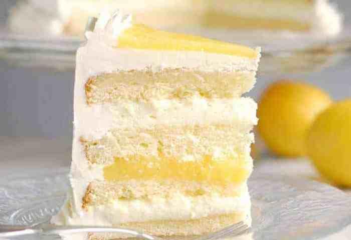 Luscious Lemon Mousse Cake Layer Cake Perfection Baking Sense