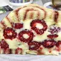 Raspberry Charlotte Royale Cake
