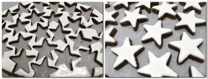 Photo 7: Cookie scraps on the parchment Photo 8: Baked cookies on the parchment paper