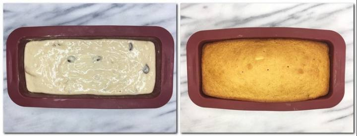 Photo 5: Dough in a silicone loaf pan Photo 6: Baked Gingerbread Loaf in a loaf pan
