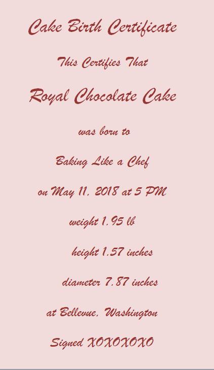 Royal Chcolate cake Pin - Christophe Felder