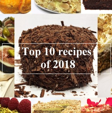 Top 10 recipes of 2018 represent the best dessert recipes of my blog for the past year. This list is based on the web site data analysis and is made by you, my readers and followers. Thank you! #top10 #recipes #bestrecipes #desserts #sweets #pastry #cake | Full recipes at www.bakinglikeachef.com