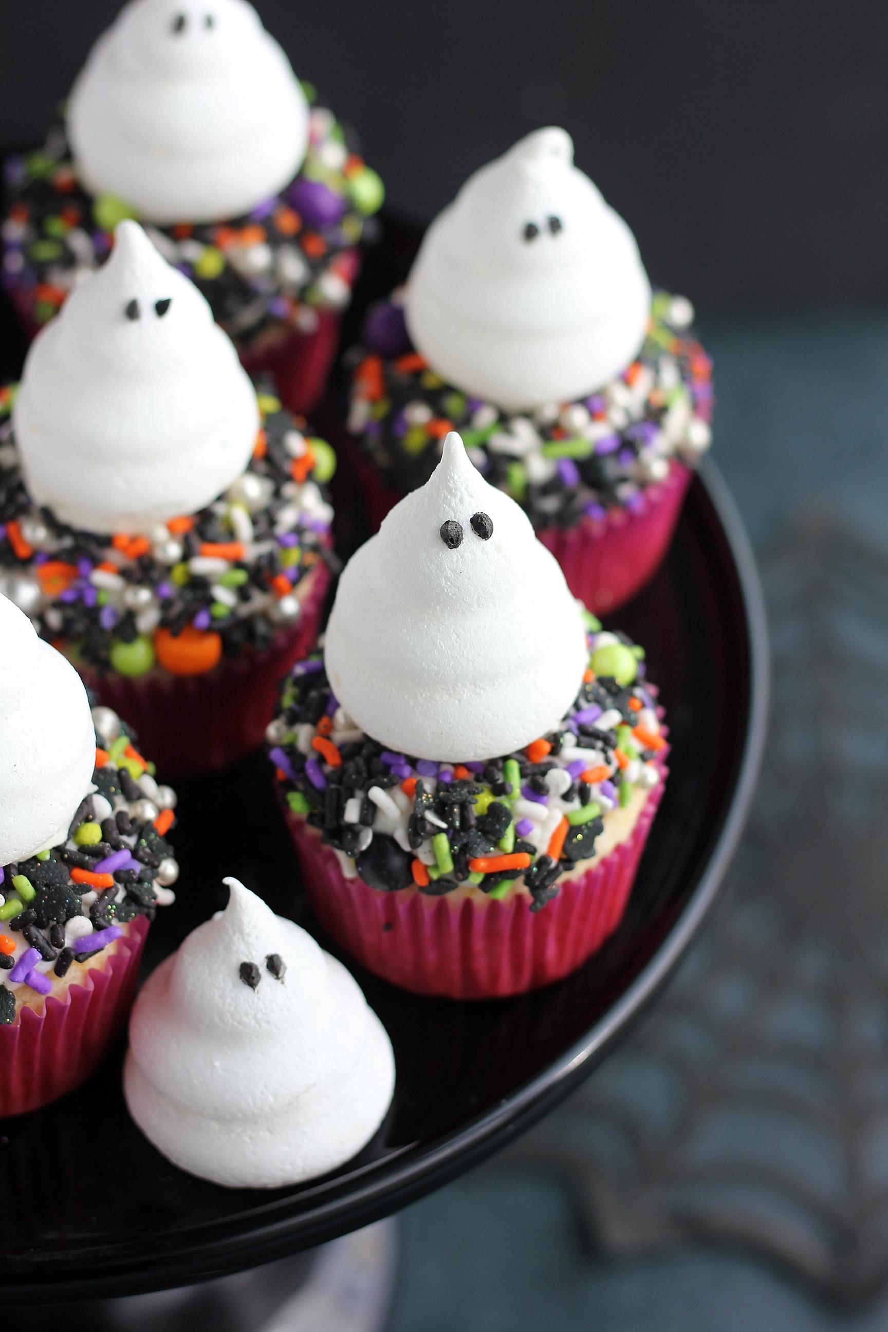 Ghost Meringue Cupcakes Baking With Blondie