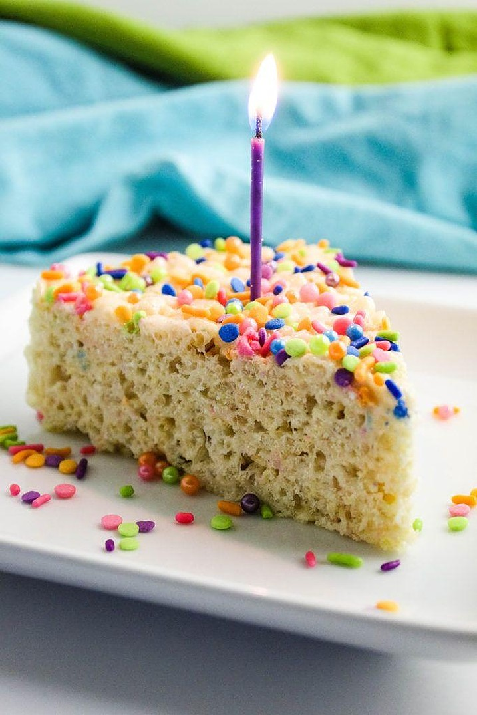 Cake Batter Rice Krispie Treats Baking You Happier