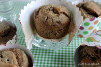 Magic Muffins, Gezonde Muffins, Vetvrije Muffins, Suikervrije Muffins, Appelmoes muffin,