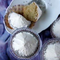 Vanille cupcake met vanille botercrème