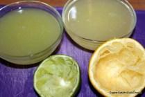 Zelfgemaakte sweet and sour mix (6) sap van limoen en citroen