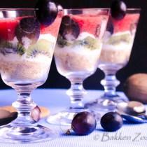 Aardbeien yoghurt trifle