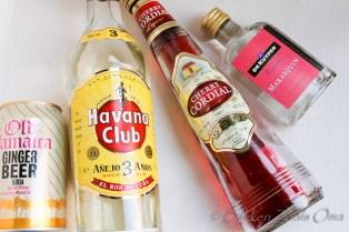 Ingrediënten voor cherry whispers cocktail