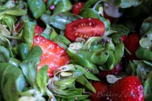 Aardbeien Basilicum Salade-5