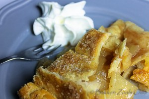 apple pie met slagrpom