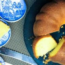 Amerikaanse Pound Cake - in plakjes
